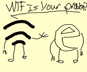 Wi-fi tells Internet Explorer that it stinks