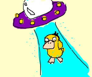 UFO abducts Psyduck for experimentation