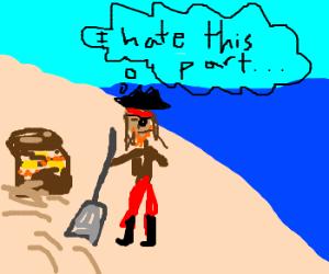 Burying treasure is worst part of pirate's job