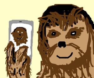 Chewie takes a selfie