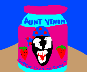 Venom loves strawberry jelly