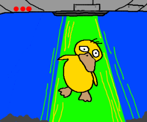 Aliens abduct psyduck