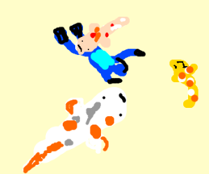 scuba diving with koi fish
