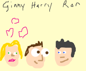 Ginny is oblivious to Harry's love for Ron.