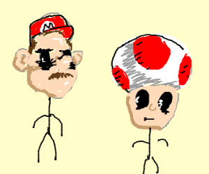 Hollow Mario Stick Figures And Their Sons