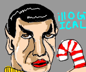 Spock finds candy illogical