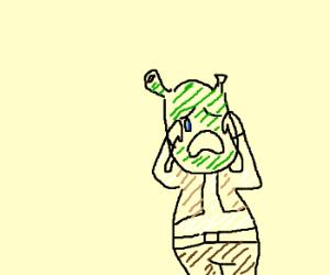 Shrek is.....crying