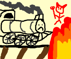 I'm on the... RAILROAD TO HELL!! Im on the...