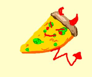 Demonic vegetarian pizza