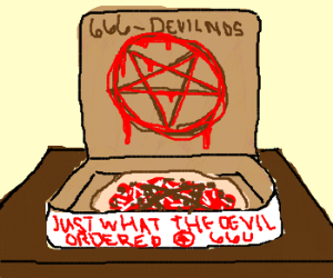 Devilno's Pizza: Just dial 666-DEVILNOS