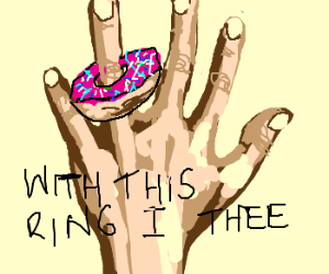 Donut Wedding Rings drawing by Sharleen