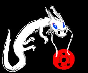 Blue eyes white dragon w/ sharingan blazed