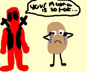 deadpool makes potato cry