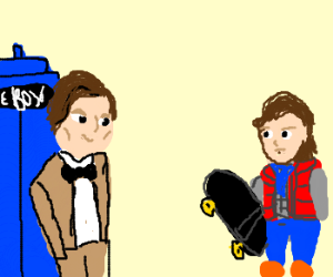Marty McFly meets the 11th Doctor