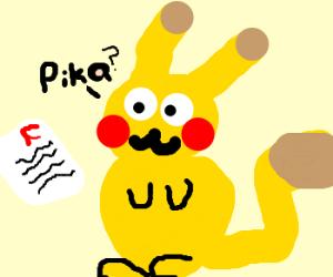 Pikachu failed an exam