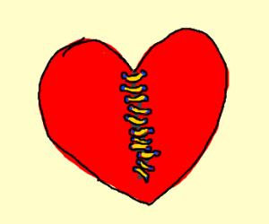Broken heart patched up