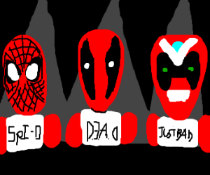 Spiderman, Deadpool, Strongbad: Usual Suspects