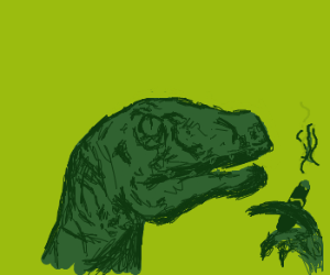 Philosoraptor smoking cigar