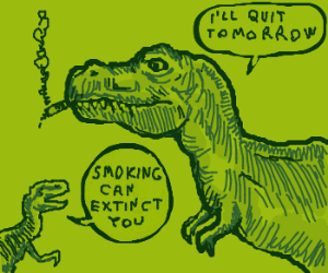T-Rex smoking a cigar
