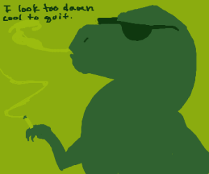 Dinosaur won't quit smoking
