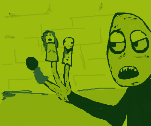 Salad fingers takes up finger puppets as hobby