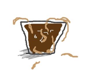 Chocolate noodle milk