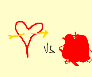 Valentine vs red blob