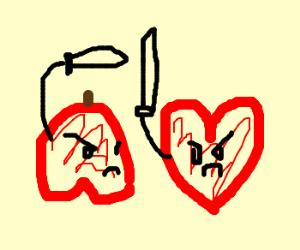 Heart swordfights Apple