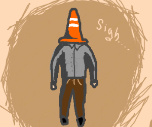 Image result for traffic cone head