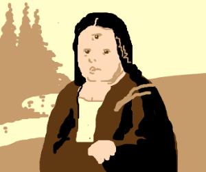 Mona Lisa's third eye