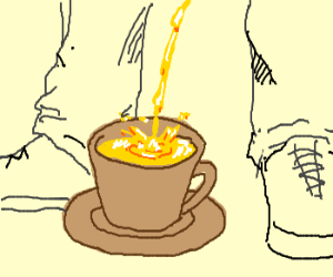 pee in a cup
