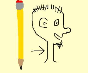 Pencil-neck