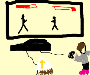 Pope And Justin Beiber Playing The Ps3 Drawing By Sadjon Drawception