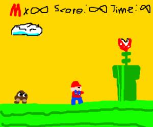 Mario experiences the wonder of infinity