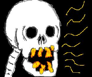 Skeleton needs dental work.