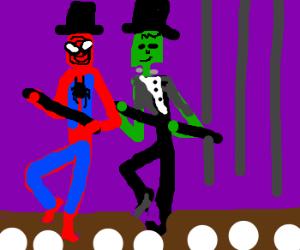 Sir Spiderman dances to puttin on the ritz