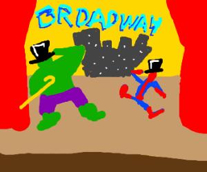 Spiderman and hulk on broadway