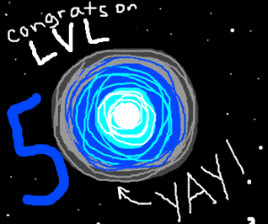 Congrats on Level 50 and yay for supernovae!