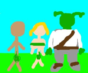 Adam & Eve. And Shrek.