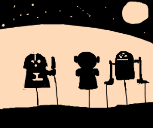 shadow puppet theater: Star Wars