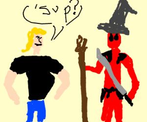 Brock says hello to Deadpool & Gandalf hybrid