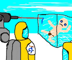 Drawception Workers Do Tests on Frozen Man