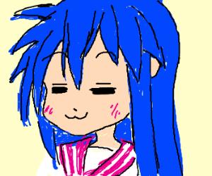 Konata Izumi, bein' cheeky.