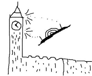 Alien strikes the London clock tower
