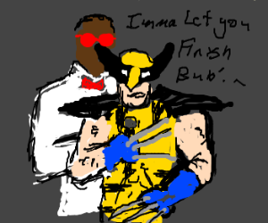 Wolverine doesn't let Kanye West finish.