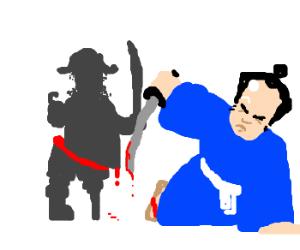 Samurai Swordfights Pirate