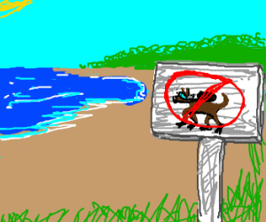 No scuba diving dogs allowed.