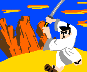 Samurai Jack gives you a stern look