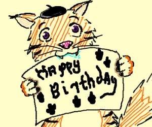 happy bithday from cat