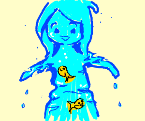 Image result for person made of water